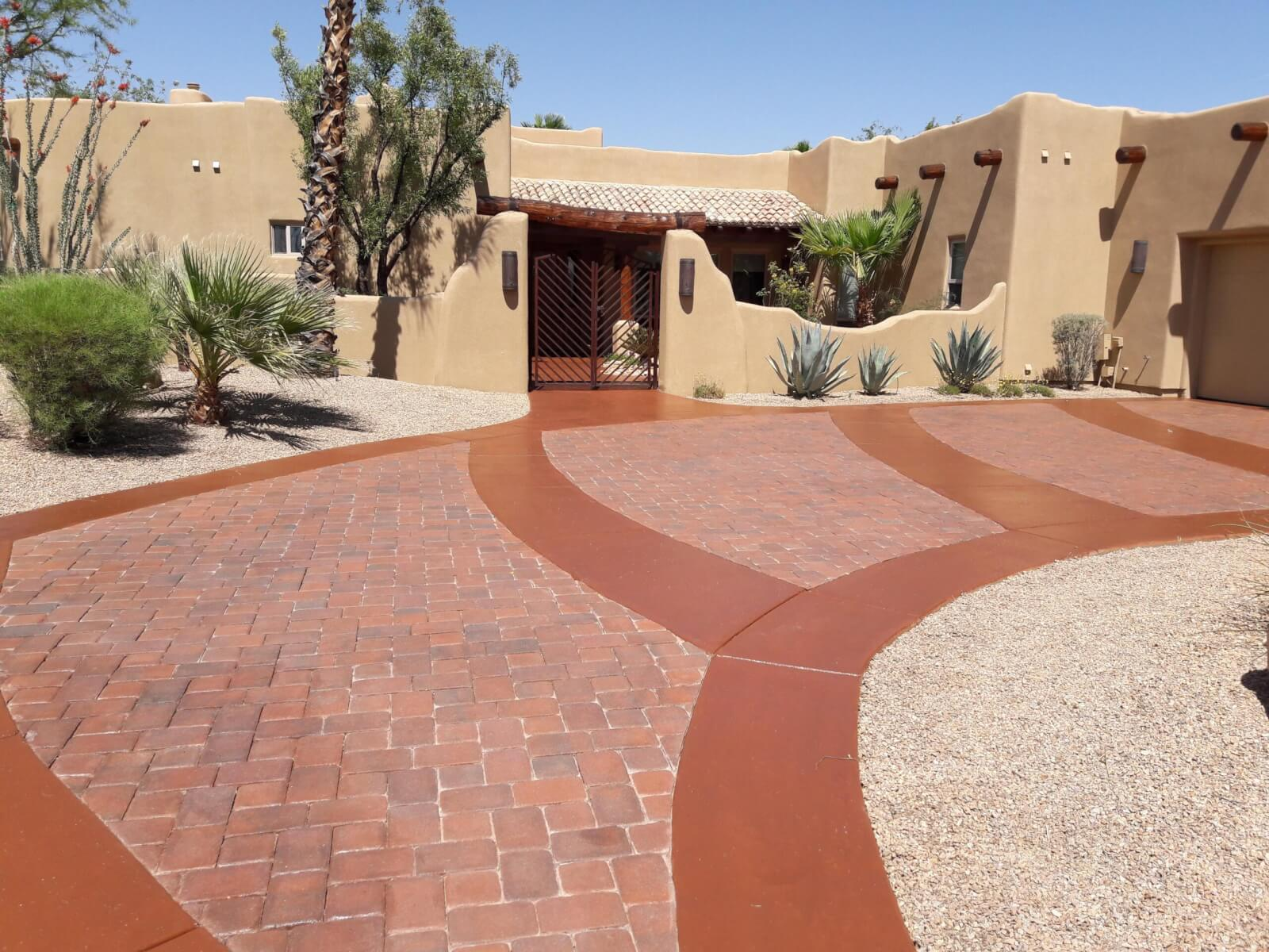 Driveway paver new coating after
