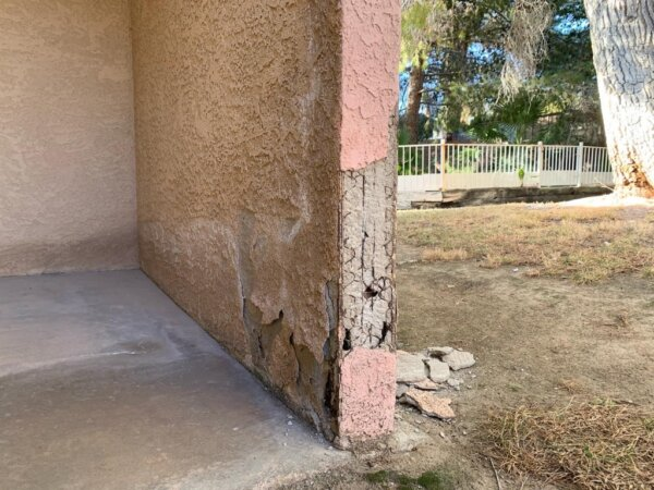 Stucco Damage before