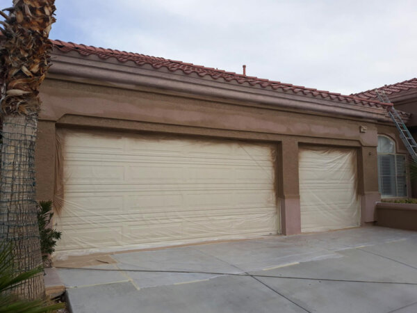 Before picture Garage door