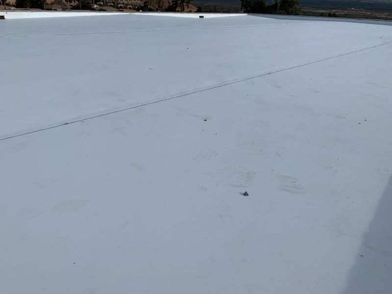 Flat roof texture shot