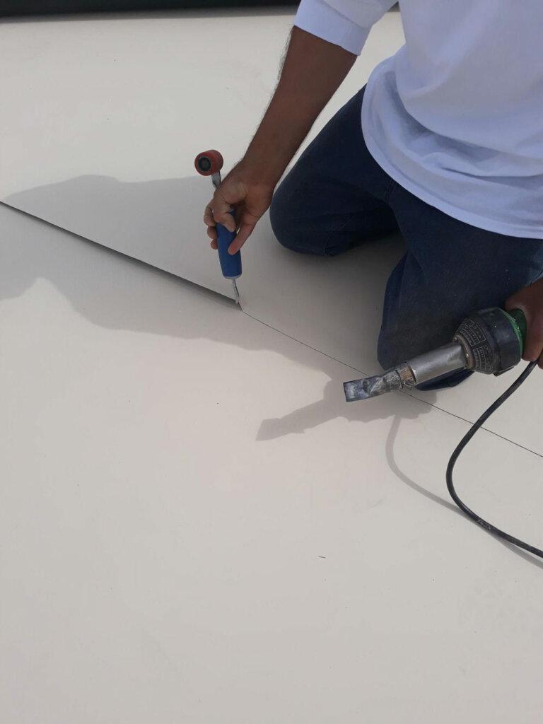 weatherguard flat roof seam