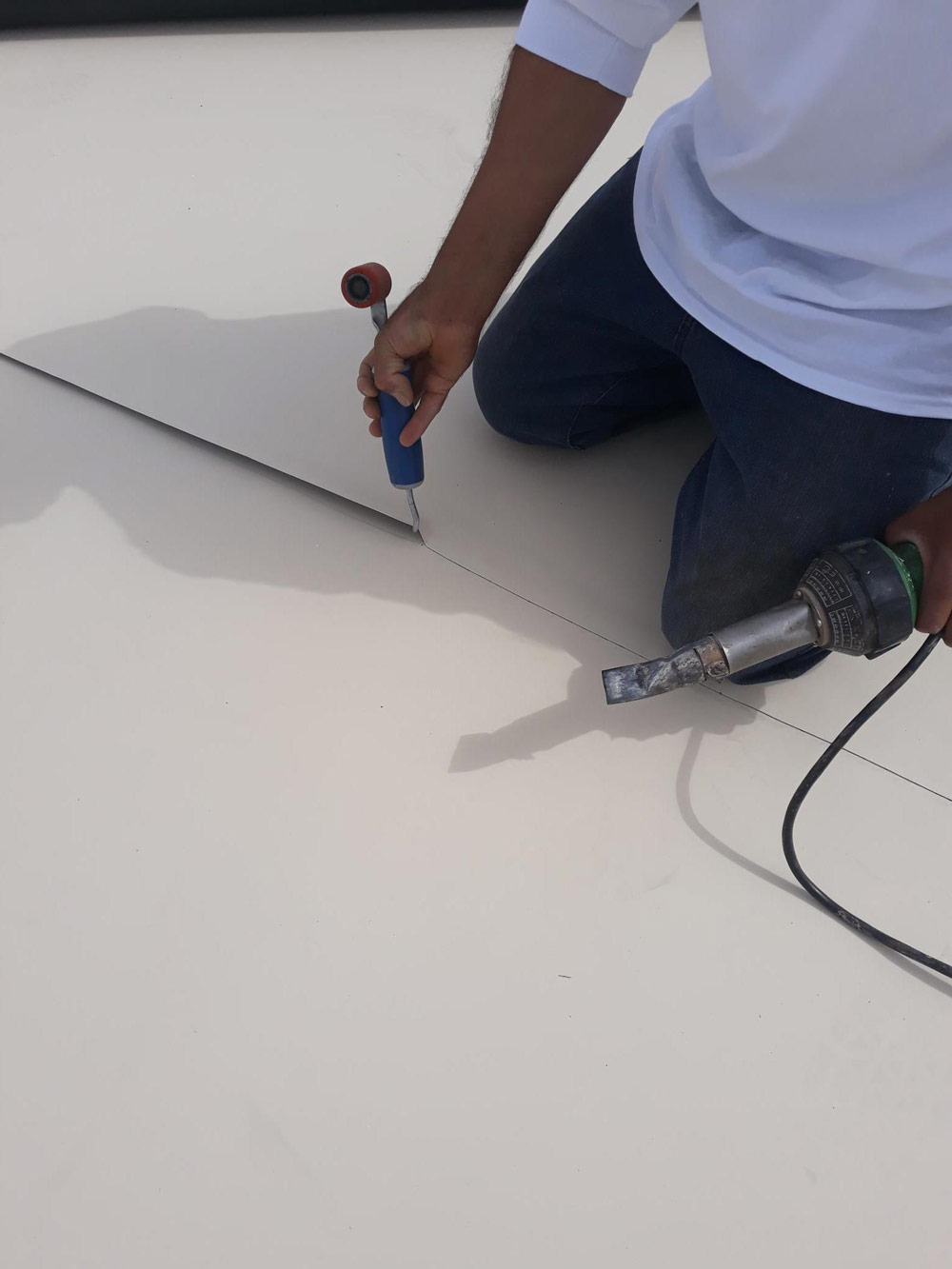 weatherguard flat roof seam